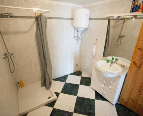 Dive Centre toilet with shower, sink and toilet for customers only