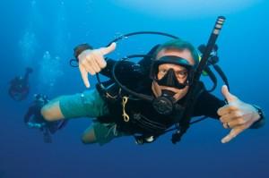 Open water diver Malaga