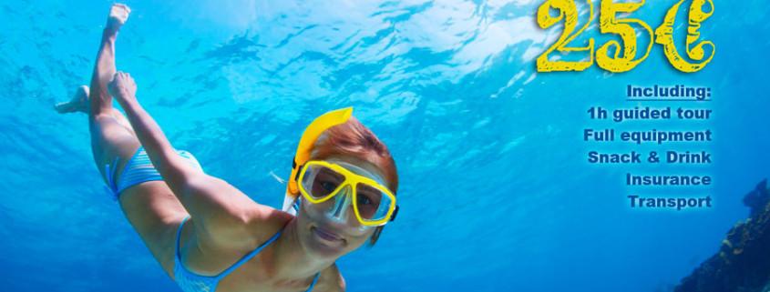 snorkeling safari in spain, torrox costa, nerja, torre del mar, algorobo, frigiliana