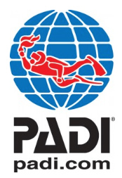padi logo. Professional Association of Diving Instructors