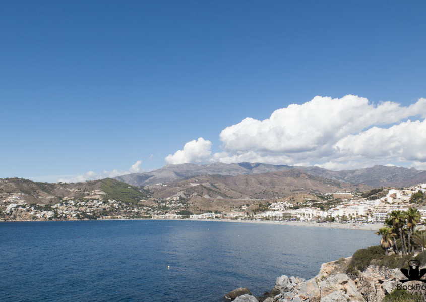 la herradura bay with a beautiful view on mountains and the blue sea on the Costa del Sol