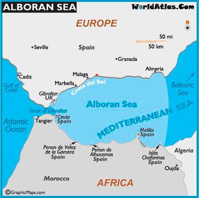 Alborean sea in Costa del Sol