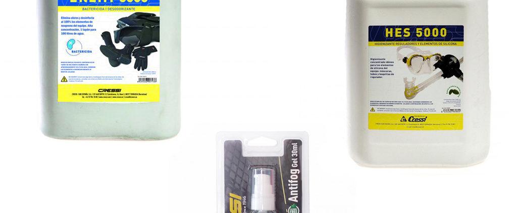 Cressi disinfectant liquid  para limpiar y desinfectar el equipo despues de su utilizo.